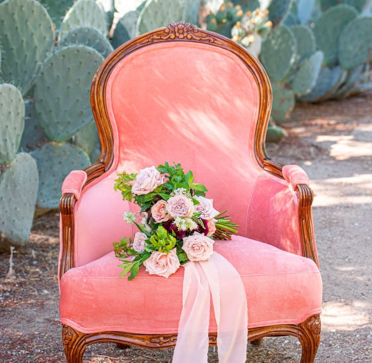 Beautiful pink chair. From a decor company.