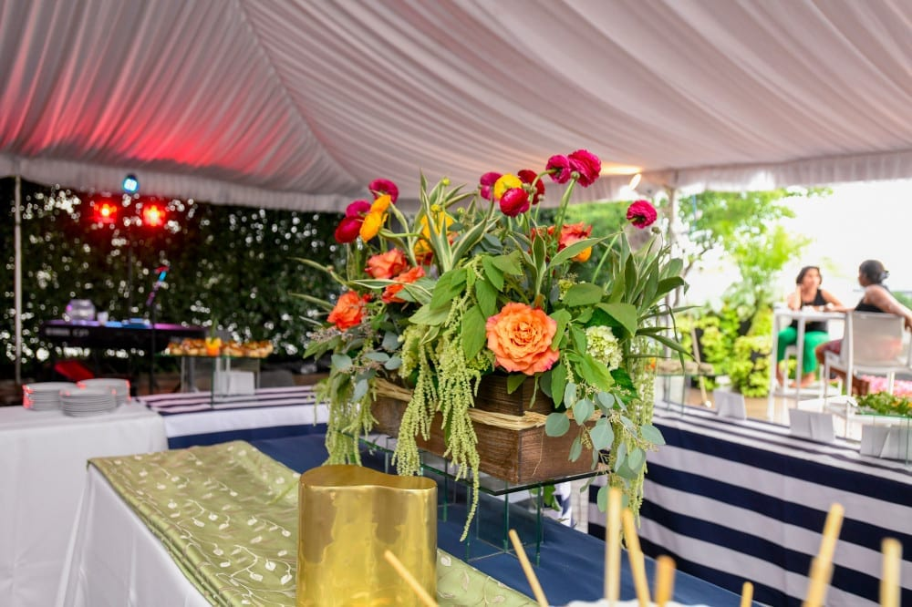 Beautiful florals at an event.