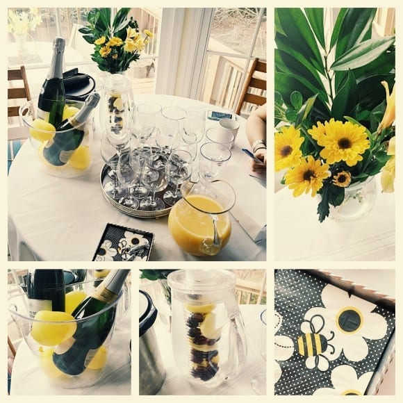 Bee-themed bridal shower decor