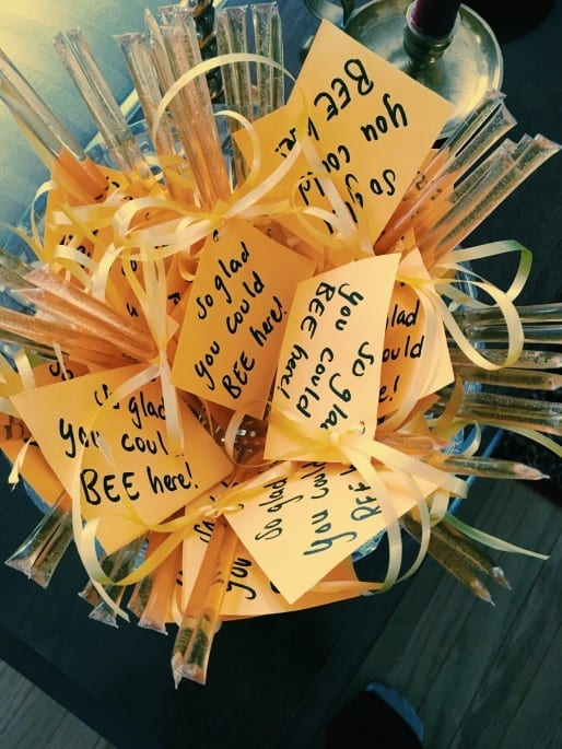 Bee-themed bridal shower cute party favors for guests