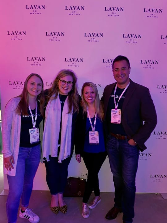 Goodshuffle Pro team at Lavan 541. BizBash NY 2019