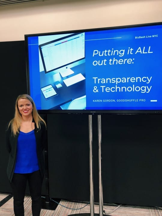 "VP of Growth and her presentation, ""Putting it ALL Out There: Transparency and Technology"""